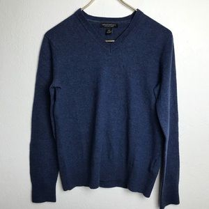 Banana Republic sweater v neck merino wool blue